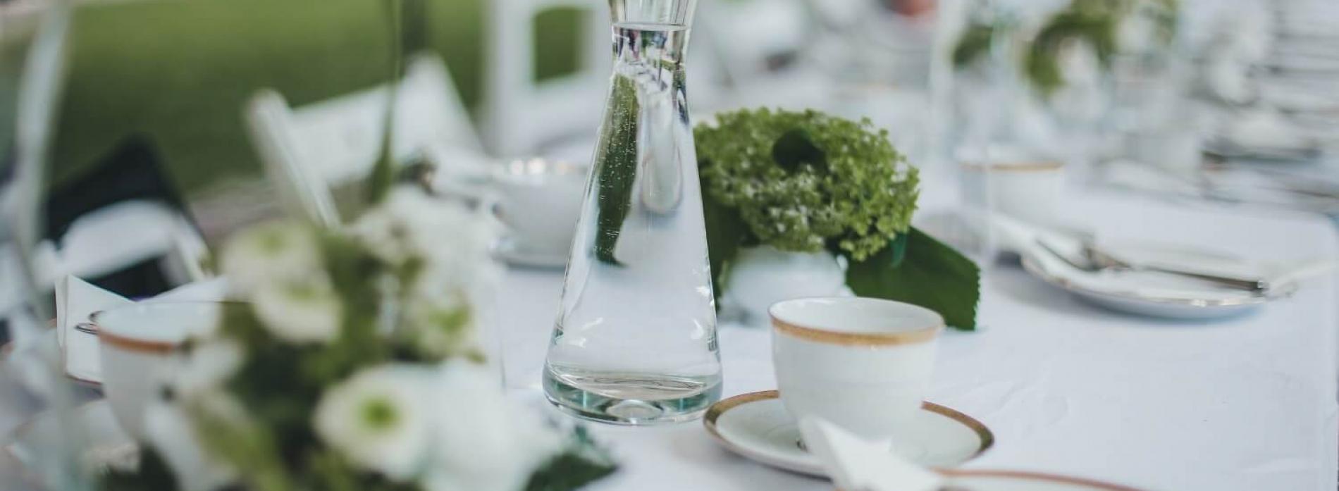 Gutshaus Volzrade Hochzeit Tisch